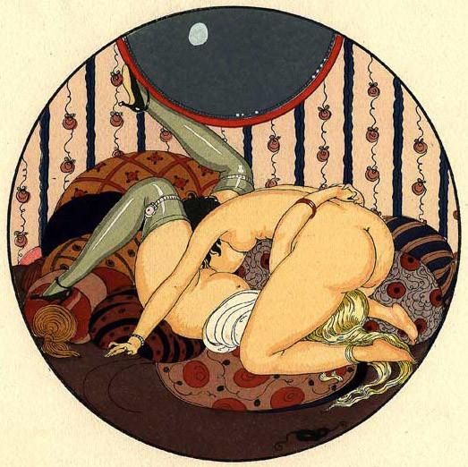 Gerda Wegener, лесбийская эротика в миниатюре. Изображение № 2.