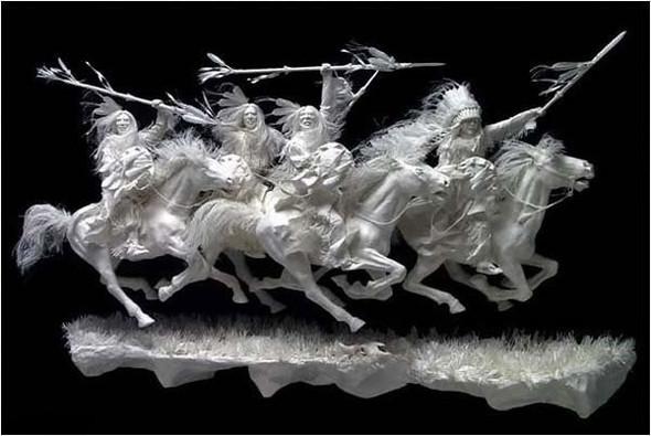 Бумажные скульптуры. Изображение № 11.