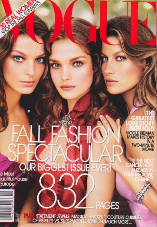 Вспомнить все или 11 обложек Жизель для Vogue US. Изображение № 9.