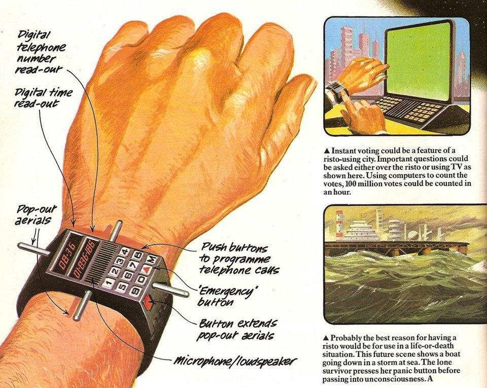 Альтернатива Apple Watch:  Какими представляли умные часы в прошлом. Изображение № 4.