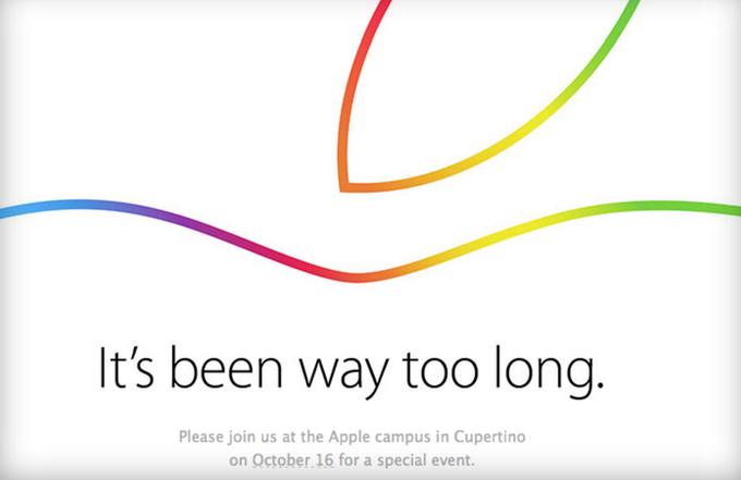 Apple подтвердила проведение презентации 16 октября. Изображение № 1.