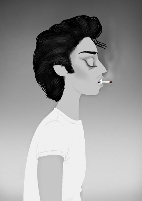 Иллюстрации образов Lady Gaga от Adrian Valencia. Изображение № 6.