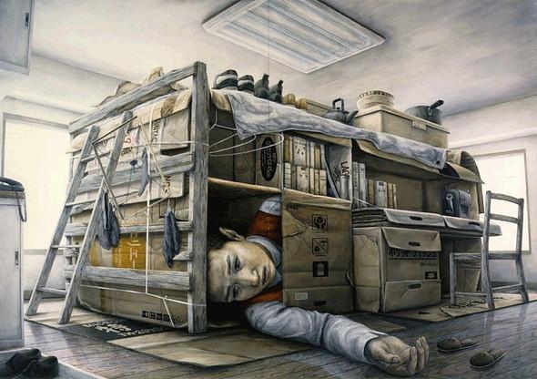 Творчество японского сюрреалиста Tetsuya Ishida. Изображение № 9.