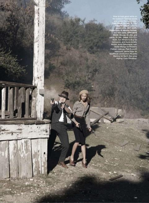 Бонни и Клайд в Harpers Bazaar. Изображение № 8.