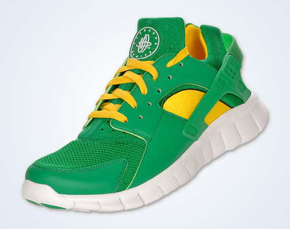 Nike Huarache Free 2012 – Court Green – White – Tour Yellow. Изображение № 2.
