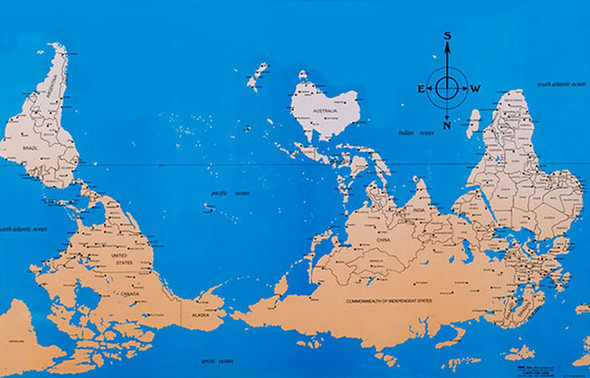 Карта мира с точки зрения Америки, Австралии, ЮАР и Франции. Изображение № 3.