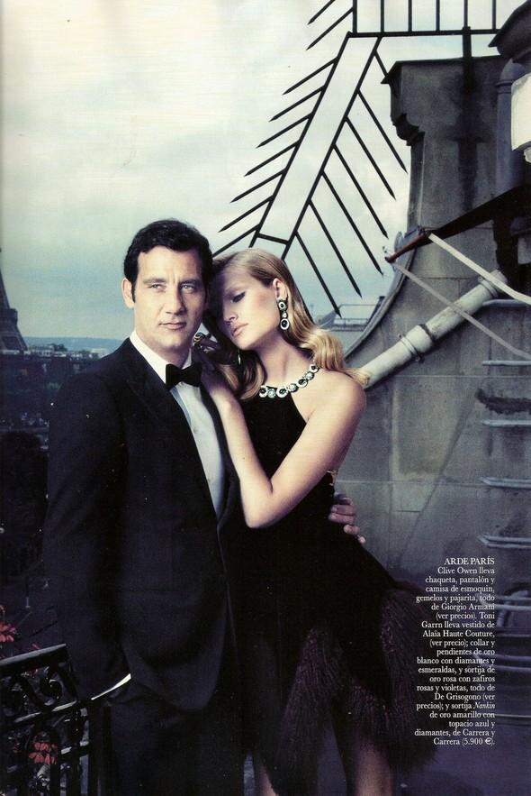Съемка: Тони Гаррн и Клайв Оуэн для Vogue. Изображение № 1.