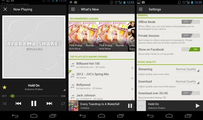 Старый дизайн приложения Spotify для Android. Изображение № 4.