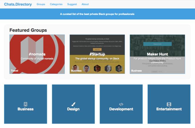 Сайт: каналы общения для профессионалов в Slack. Изображение № 1.