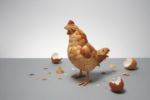 Курица из яичной скорлупы. Изображение № 1.
