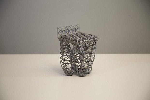 «Эволюционный» дизайн стула, созданный Autodesk (вес 2,9 кг). Изображение № 3.