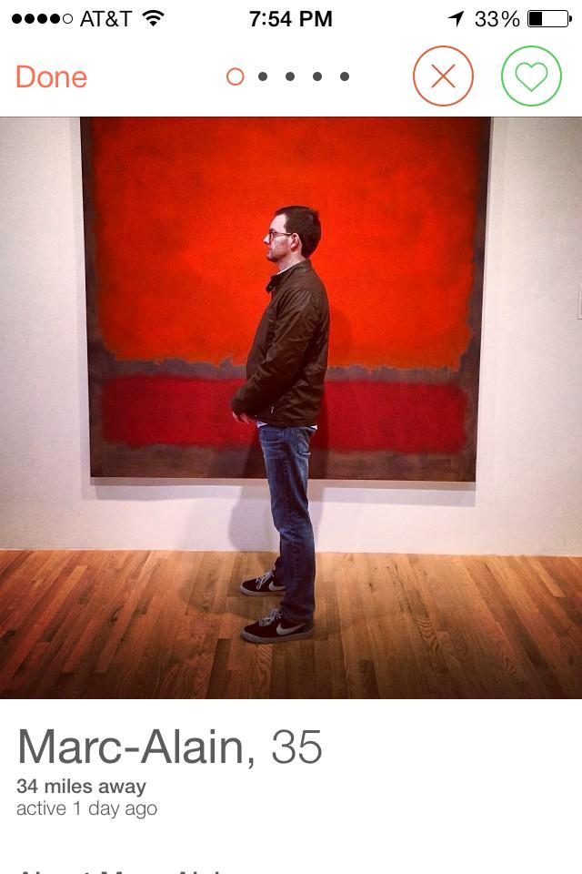 Тест дня: на фоне какого искусства фотографируются мужчины из Tinder. Изображение № 1.