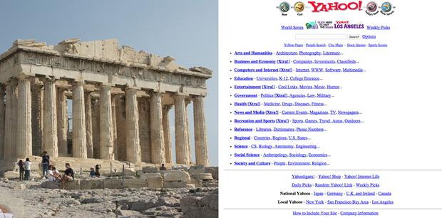 Парфенон (437 год до нашей эры) и Yahoo.com (1996). Изображение № 2.