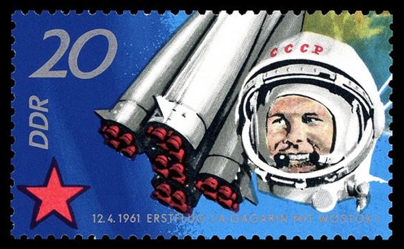 «Поехали!» Подборка ретро-плакатов с Юрием Гагариным. Изображение № 24.