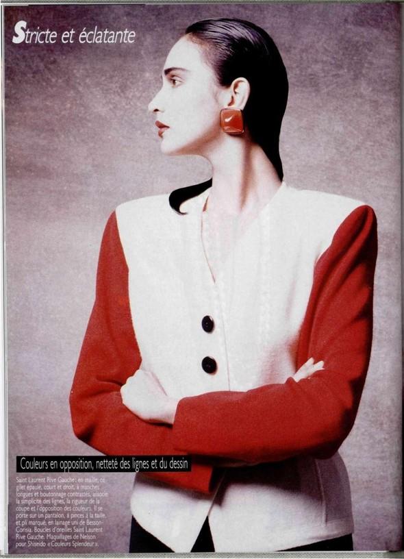 Архивная съёмка: Беате Ханзен для L'Officiel, 1986. Изображение № 1.