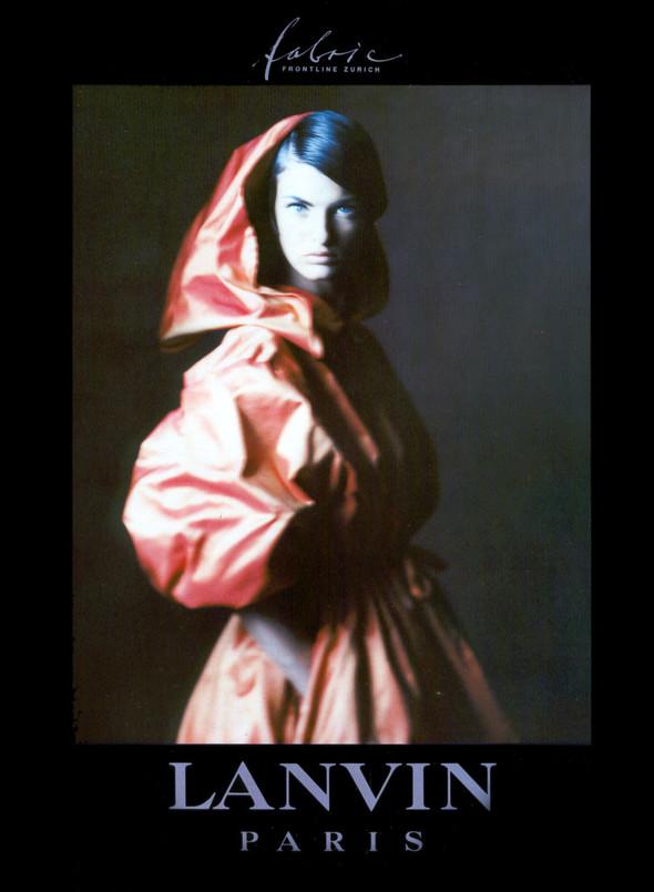 Архивная съёмка: Линда Евангелиста для Lanvin, 1990. Изображение № 1.