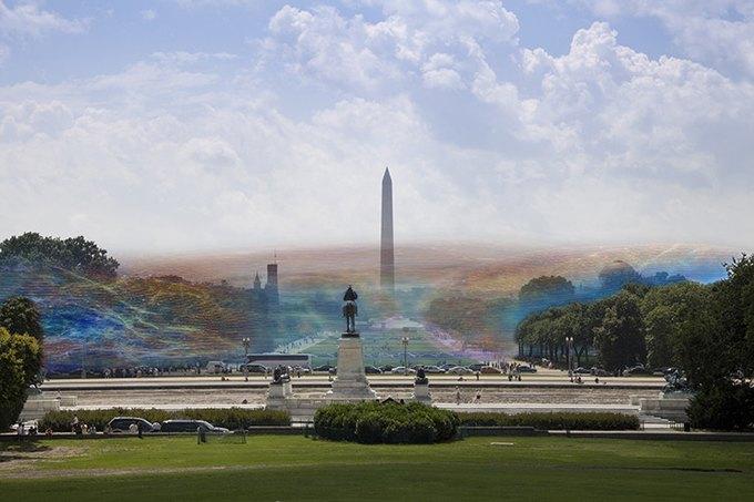 Художник наглядно показал, как выглядит сигнал Wi-Fi. Изображение № 1.