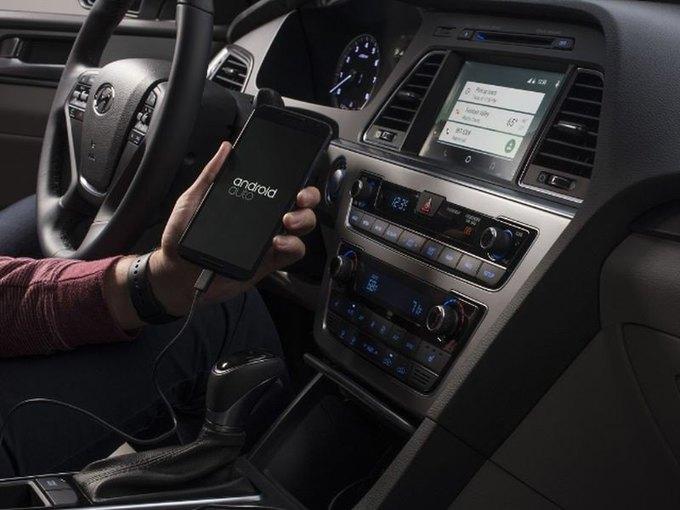 Hyundai Sonata стал первым автомобилем с Android Auto . Изображение № 1.