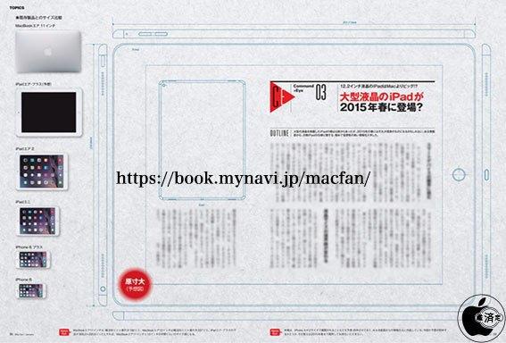 Японский журнал опубликовал чертежи «большого» айпэда. Изображение № 1.