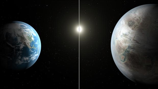 Земля и художественное изображение Kepler-452b. Изображение № 1.