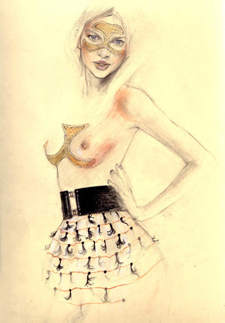 Fashion illustrations by Cedric Rivrian. Изображение № 11.