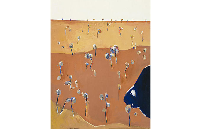 Fred Williams, Waterpond in a Landscape, 1966. Изображение № 43.