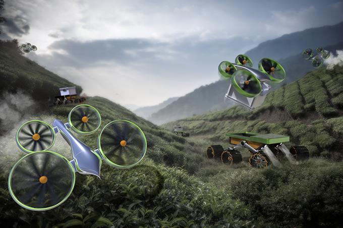 Frog Design показала концепции мирного использования дронов. Изображение № 4.