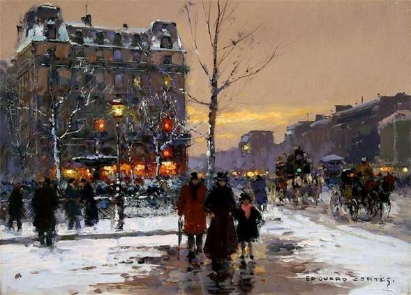 Эдуард Леон Кортес. Перенесёмся в Париж. Изображение № 3.