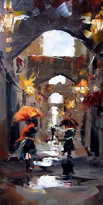Красные зонтики художника Kal Gajoum. Изображение № 19.