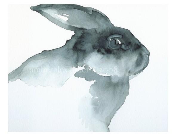 Изображение 47. Amber Alexander - животные, сияющие акварелью.. Изображение № 45.
