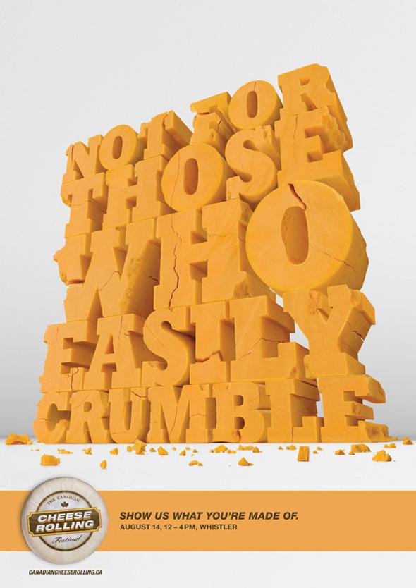 50 примеров использования типографики в рекламе. Изображение № 20.