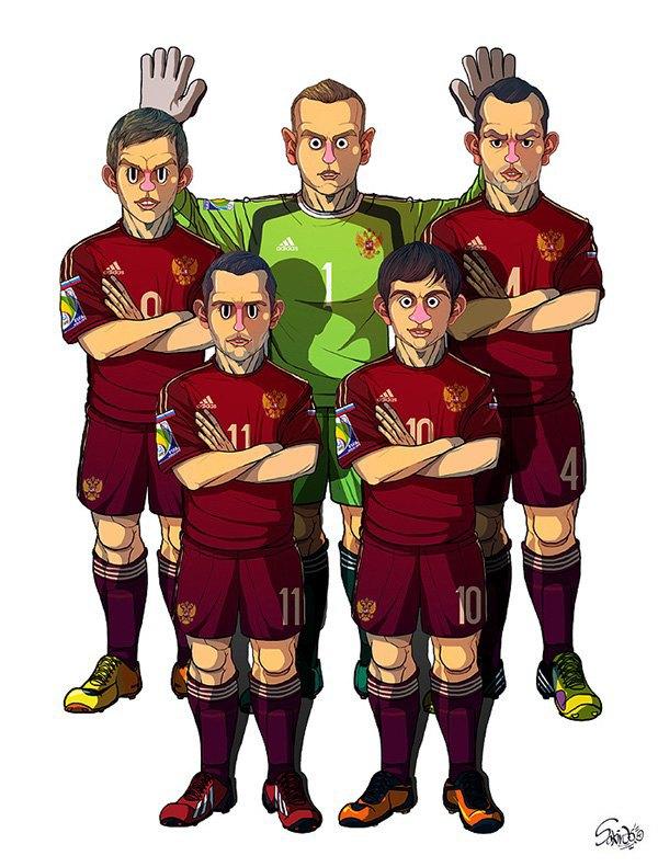 Иллюстратор нарисовал все 32 команды ЧM по футболу . Изображение № 1.