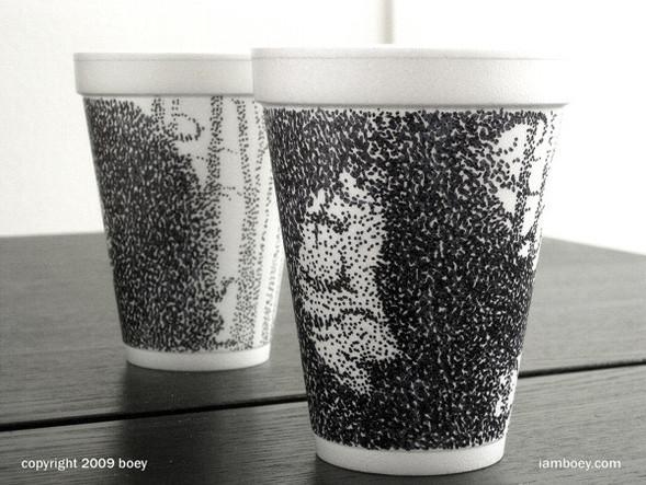 Рисунки маркером накофейных стаканчиках. Изображение № 5.