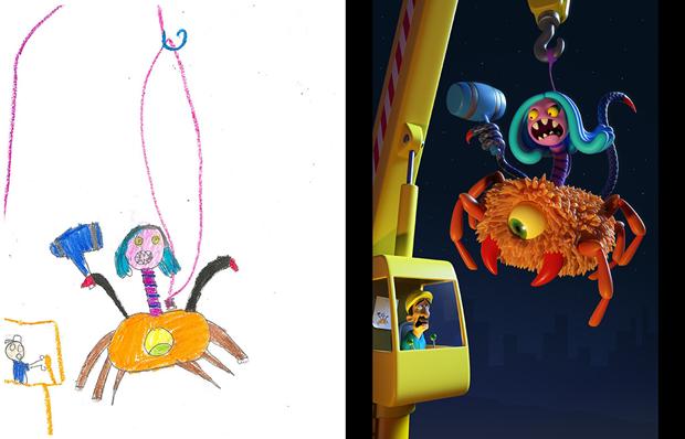Художники создали монстров наоснове детских рисунков. Изображение № 3.