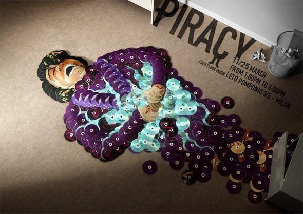 Изображение 4. Рекламная кампания: Копирайтеры против пиратства.. Изображение № 4.