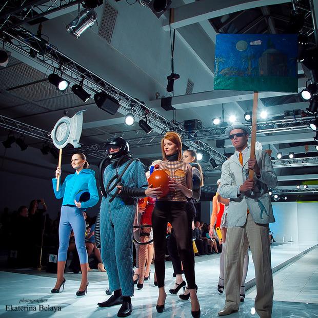 Fashion-перфоманс от SKIF Fashion. AURORA FASHION WEEK Russia SS13. Изображение № 8.
