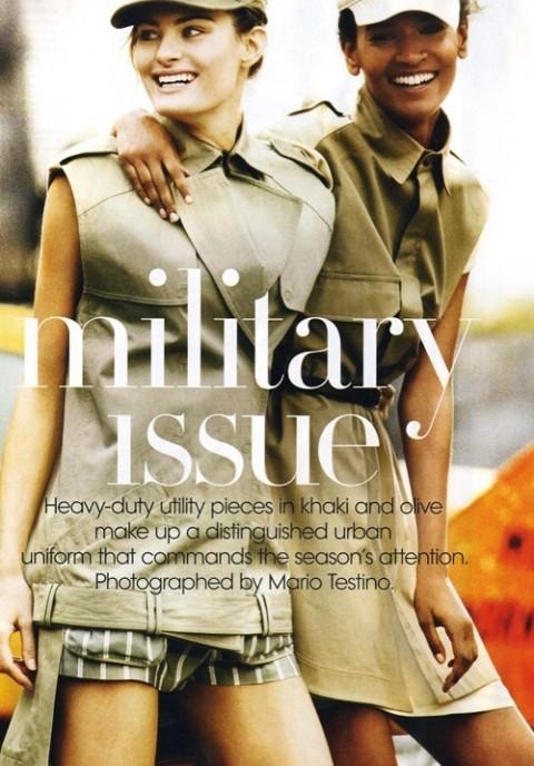Изображение 10. Фотосессия в Vogue в стиле милитари.. Изображение № 10.