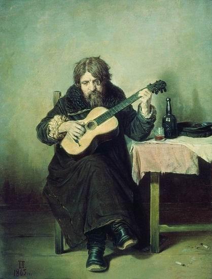В.Г.Перов, Гитарист-бобыль. Изображение № 34.