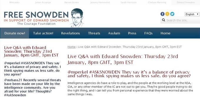Эдвард Сноуден провёл конференцию в Twitter. Изображение № 1.