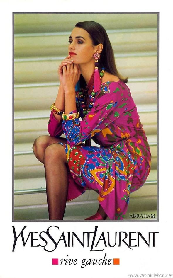 Архивная съёмка: Рекламная кампания Yves Saint Laurent SS 1991. Изображение № 1.