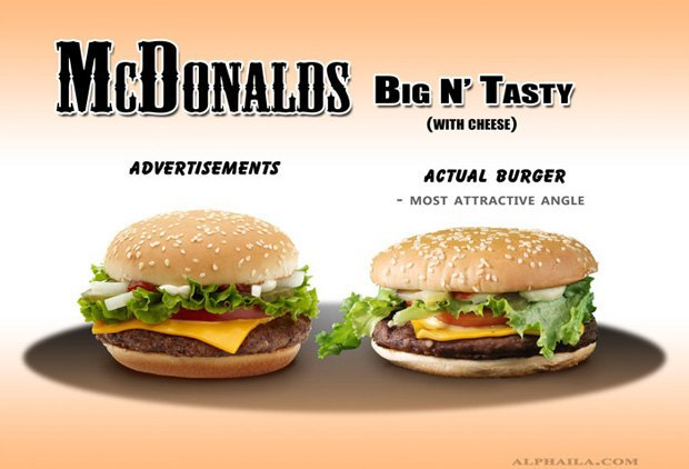 Фотограф сравнил бургеры в рекламе и в реальной жизни. Изображение № 7.
