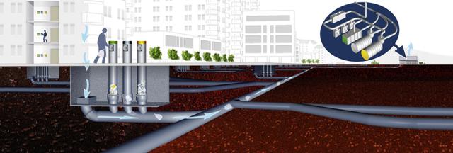 Городской мусор предлагают убирать с помощью пневмопровода. Изображение № 1.