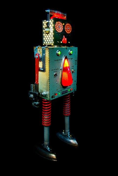 Фото: забавные роботы из промышленного мусора . Изображение № 7.