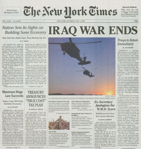 Поддельный NewYork Times. Изображение № 2.