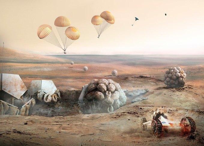 Архитекторы показали проект 3D-жилья для Марса . Изображение № 1.