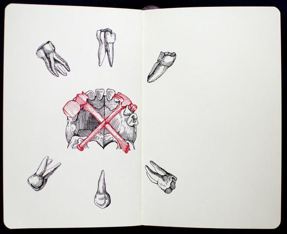 Чёрные ручки, молескин. Изображение №11.