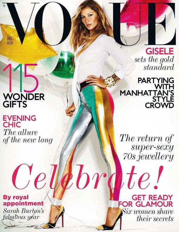 Обложка: Жизель Бундхен для британского Vogue. Изображение № 1.