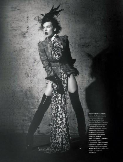 Mila Jovovich. Harper's Bazaar, sept-2009. Изображение № 12.