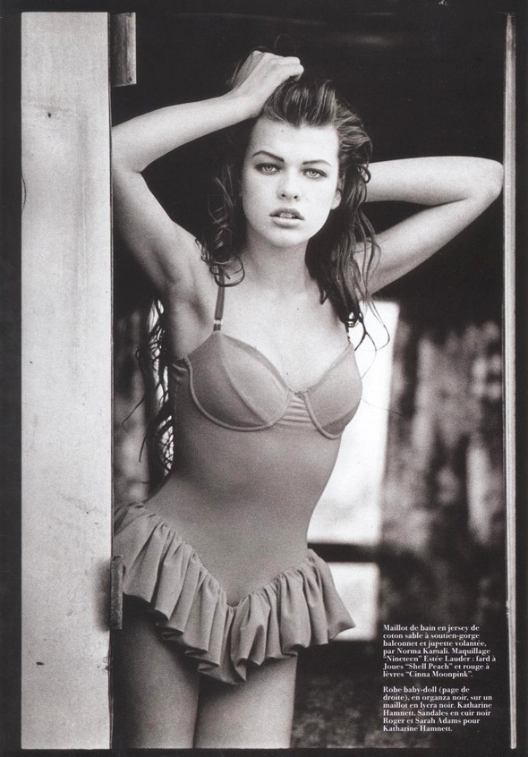 Архивная съёмка: Мила Йовович для Vogue, 1990. Изображение № 4.