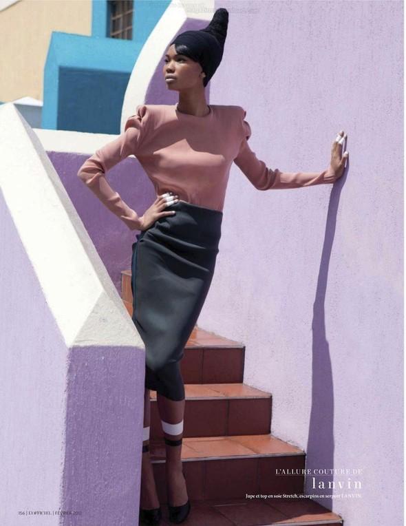 Съёмка: Шанель Иман для L'Officiel. Изображение № 14.